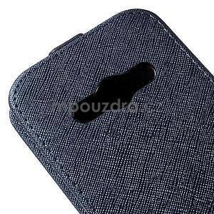 Flipové koženkové pouzdro na Samsung Galaxy Xcover 3 - tmavěmodré - 4