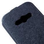 Flipové koženkové pouzdro na Samsung Galaxy Xcover 3 - tmavěmodré - 4/5