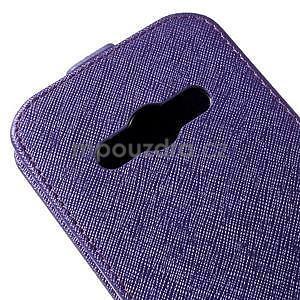 Flipové koženkové pouzdro na Samsung Galaxy Xcover 3 - fialové - 4