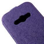 Flipové koženkové pouzdro na Samsung Galaxy Xcover 3 - fialové - 4/5