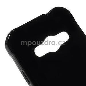 Lesklý gelový kryt na Samsung Galaxy Xcover 3 - černý - 4