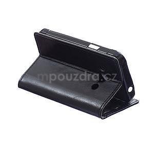 Černé koženkové pouzdro Samsung Galaxy Xcover 3 - 4