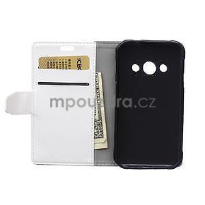 Bílé koženkové pouzdro Samsung Galaxy Xcover 3 - 4