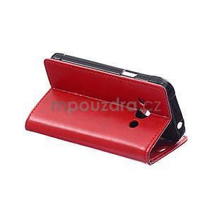 Červené koženkové pouzdro Samsung Galaxy Xcover 3 - 4