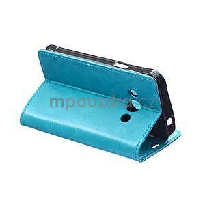Modré koženkové pouzdro Samsung Galaxy Xcover 3 - 4