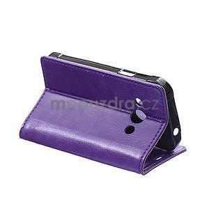 Fialové koženkové pouzdro Samsung Galaxy Xcover 3 - 4