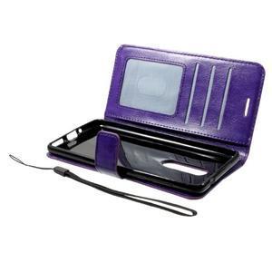 Standy PU kožené knížkové pouzdro na Nokia 5 - fialové - 4