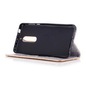Hearts PU kožené pouzdro na Nokia 5 - zlaté - 4