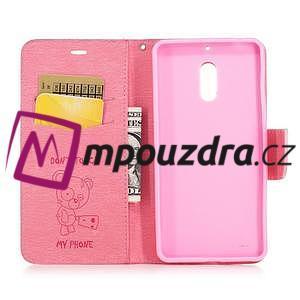 BadBeer peněženkové pouzdro na Nokia 6 - růžové - 4