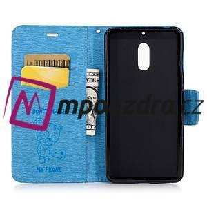BadBeer peněženkové pouzdro na Nokia 6 - světlemodré - 4