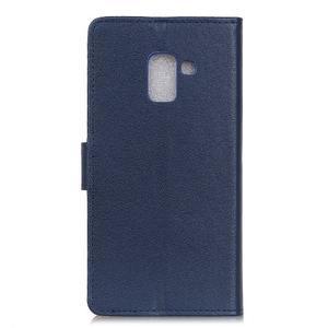 Wallet PU kožené pouzdro na Samsung Galaxy A6+ (2018) - modré - 4