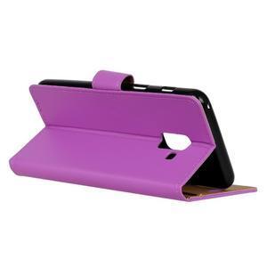 Wallet PU kožené pouzdro na Samsung Galaxy A6 (2018) - fialové - 4
