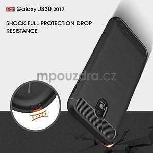 Carbo odolný obal na mobil Samsung Galaxy J3 (2017) - šedý - 4