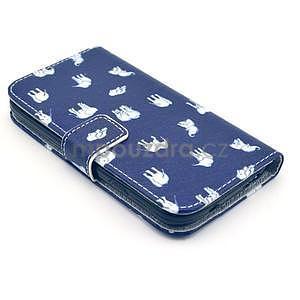 Pěněženkové pouzdro na Samsung Galxy S4 - sloni pro štěstí - 4