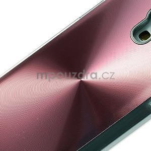 Metalický obal na Samsung Galaxy S4 mini - růžový - 4