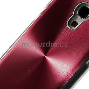 Metalický obal na Samsung Galaxy S4 mini - červený - 4