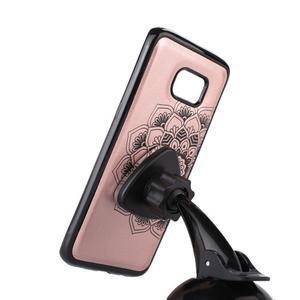 Mandala PU kožené pouzdro na Samsung Galaxy S7 Edge - růžovozlaté - 4