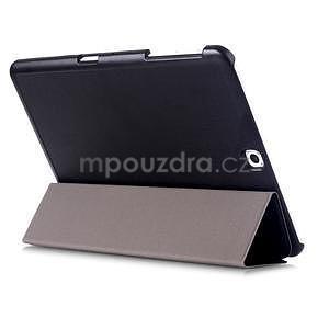 Trifold polohovatelné pouzdro na Samsung Galaxy Tab S2 9.7 - černé - 4