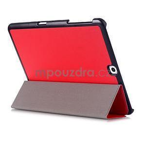 Trifold polohovatelné pouzdro na Samsung Galaxy Tab S2 9.7 - červené - 4