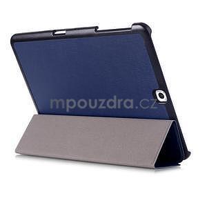 Trifold polohovateľné púzdro pre Samsung Galaxy Tab S2 9.7 - tmavomodré - 4