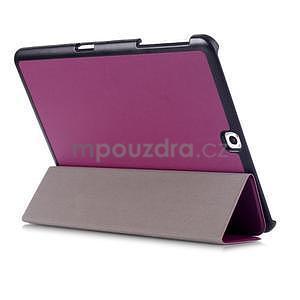 Trifold polohovatelné pouzdro na Samsung Galaxy Tab S2 9.7 - fialové - 4