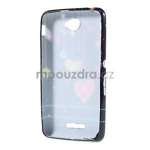 Gelový obal na Sony Xperia E4 - srdce - 4