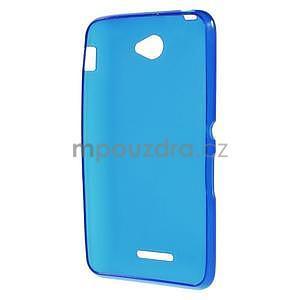 Gelový jednobarevný obal pro Sony Xperia E4 - modrý - 4