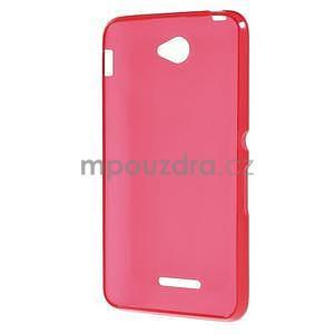 Gelový jednobarevný obal pro Sony Xperia E4 - červený - 4