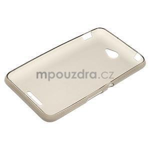 Gelový jednobarevný obal pro Sony Xperia E4 - šedý - 4