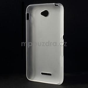 Gelový jednobarevný obal pro Sony Xperia E4 - transparentní - 4
