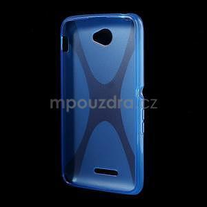 Gelový x-line obal na Sony Xperia E4 - modrý - 4