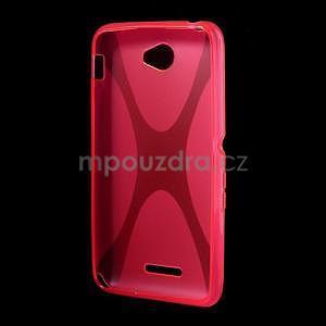 Gelový x-line obal na Sony Xperia E4 - rose - 4