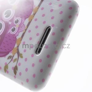 Gelový obal Sony Xperia E4 - zamilované sovičky - 4