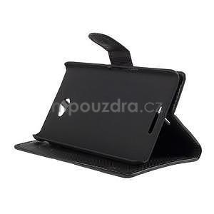 Peněženkové pouzdro s motýlkem na Sony Xperia E4 - černé - 4