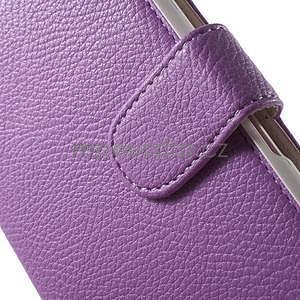 Koženkové pouzdro pro Sony Xperia E4 - fialové - 4