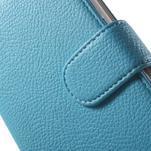Koženkové pouzdro pro Sony Xperia E4 - světle modré - 4/7