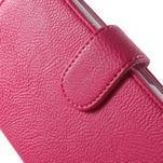 Koženkové pouzdro pro Sony Xperia E4 - rose - 4/7