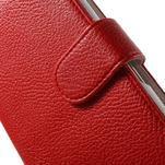 Koženkové pouzdro pro Sony Xperia E4 - červené - 4/7
