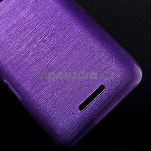Broušený gelový obal pro Sony Xperia E4 - fialový - 4