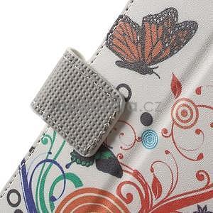 Peněženkové pouzdro na Sony Xperia E4 - barevní motýlci - 4