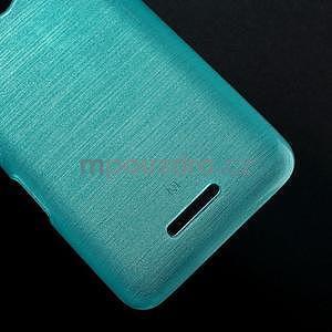 Broušený gelový obal pro Sony Xperia E4 - tyrkysový - 4