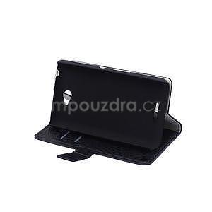 Pouzdro s krokodýlím vzorem na Sony Xperia E4 - černé - 4