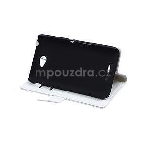 Pouzdro s krokodýlím vzorem na Sony Xperia E4 - bílé - 4