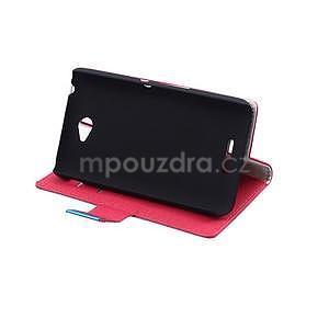 Vzorované pěněženkové pouzdro na Sony Xperia E4 - červené - 4