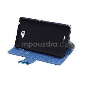 Vzorované pěněženkové pouzdro na Sony Xperia E4 - modré - 4