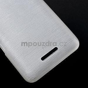 Broušený gelový obal pro Sony Xperia E4 - bílý - 4