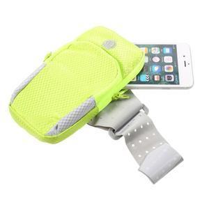 Zippy univerzální sportovní taštička na ruku pro telefony do rozměru 157 x 77 mm - zelená - 4