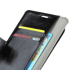 Crazy PU kožené zapínací pouzdro na Xiaomi Redmi Note 5A Prime - černé - 4