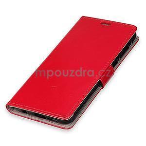 Crazy PU kožené zapínací pouzdro na Xiaomi Redmi Note 5A Prime - červené - 4