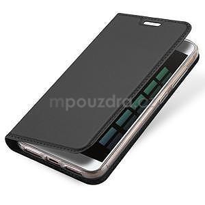 DUX PU kožené klopové pouzdro na Xiaomi Redmi Note 5A - šedé - 4